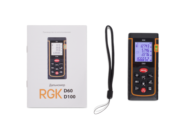 Лазерный дальномер RGK D60 New